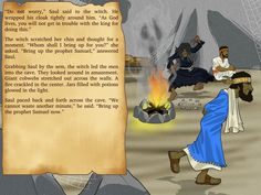 Free Bible Lesson Plans, Cartoons, and Puzzles for parents and teachers. Learn about the Witch of Endor, the danger of witchcraft, and King Saul. Witch Of Endor, Bible Stories For Kids, Free Bible, Bible Lessons, Witchcraft, Lesson Plans, No Worries, Bring It On, In This Moment