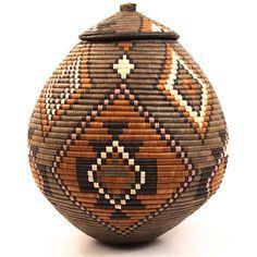 """African Basket - Ukhamba 15.5"""" Tall"""