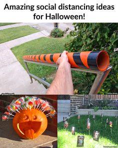 Halloween Outside, Halloween Door, Halloween Trick Or Treat, Creepy Halloween, Halloween Candy, Halloween 2020, Holidays Halloween, Halloween Pumpkins, Halloween Crafts