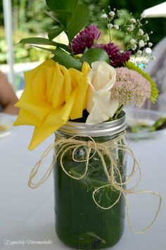 Easy and Inexpensive Summer Floral Arrangements by Exquisitely Unremarkable