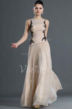 Abendkleider - $199.99 - A-Linie/Princess-Linie U-Ausschnitt Knöchellang Chiffon Abendkleid mit Bestickt Rüschen Spitze (01705020333)