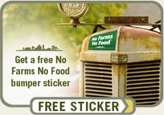 No Farms No Food sticker