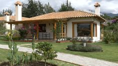 (SOLD) Cozy Home For Sale by owner in Gated Gommunity, Cotacachi, Ecuador Beautiful Villas, Beautiful Homes, Single Storey House Plans, Small Country Homes, New House Plans, Home Design Plans, Cabin Homes, House Layouts, Cozy House