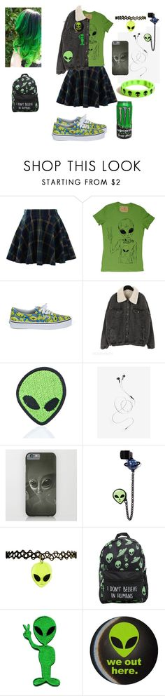 """space grunge"" by kiara-cvrtnjak ❤ liked on Polyvore featuring Chicwish, Vans, Love and Madness, Fad Treasures and Retrò"