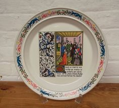 Portmeirion Pottery commemorative charger plate