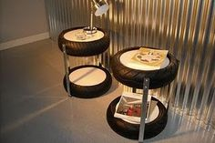 38 Easy DIY Recycle Old Tire Furniture Projects for Home Decor Tire Furniture, Garage Furniture, Furniture Projects, Waiting Room Design, Cool Light Fixtures, Recycled House, Tyres Recycle, Diy Recycle, Tyre Shop