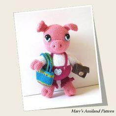 Patty Pig The Ami by Mary's Amiland #pig #amigurumi #crochetpattern