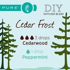 DIY PURE Essential Oils Cedar Frost blend
