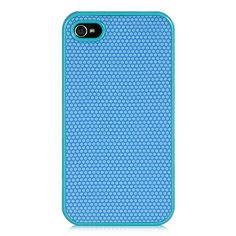 iPhone 4 / 4S Fabric Crystal Case w/ Blue Hexo Grip