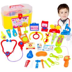 30 Pieces / Play Doctor Set with Stethoscope and Medical Doctor's Equipment (Educational Toys)