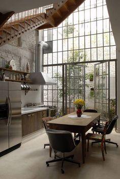 Decoração cozinha com madeira - bancada (Arquiteto: Vitor Penha)