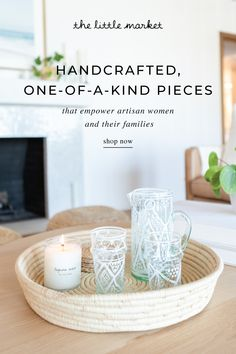 Shop handmade fair trade products created by artisans around the world. Humble Design, Cuisines Diy, Tray Styling, Hygge Home, Cottage Living, Living Room, Bright Homes, Backyard Makeover, Diy Décoration
