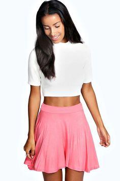 Selena Jersey Viscose Skater Skirt