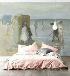 Romantic combination/Wallpaper/Bed