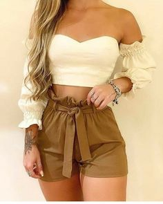 Cute Summer Outfits, Cute Casual Outfits, Short Outfits, Pretty Outfits, Stylish Outfits, Casual Summer, Short Dresses, Girls Fashion Clothes, Teen Fashion Outfits