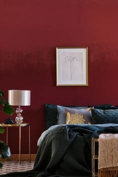 Maroon Bedroom Color Schemes Awesome the Best Room Colors for Your Zodiac Sign Burgundy Room, Burgundy Living Room, Burgundy Paint, Gold Bedroom, Home Decor Bedroom, Bedroom Small, Bedroom Color Schemes, Bedroom Colors, Maroon Room