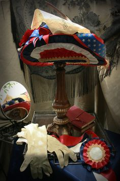 Women's Victorian Hat The Patriot Act by TheSistersBrimm on Etsy, $300.00