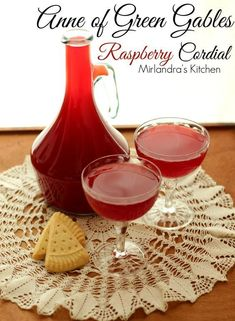 This delightful raspberry cordial might be the most perfect use for raspberries ever invented.   Non-alcoholic, easy to make, and perfect for any occasion.  Why not serve it for Valentine's Day?