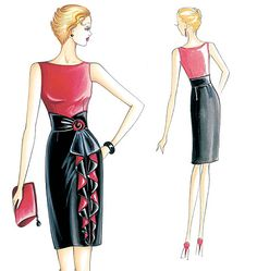 F2607 | Marfy Dress | Evening / Prom | Butterick Patterns