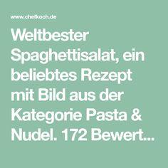 Weltbester Spaghettisalat, ein beliebtes Rezept mit Bild aus der Kategorie Pasta & Nudel. 172 Bewertungen: Ø 4,0. Tags: Camping, einfach, Hauptspeise, Kinder, Nudeln, Party, Pasta, Reis- oder Nudelsalat, Salat, Schnell, Sommer, Studentenküche, Vegetarisch, warm