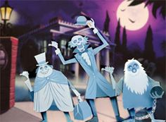 paper dolls ghosts toy craft Haunted Mansion
