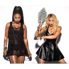 WWE Divas Cameron and Naomi The Funkadactyls ❤ liked on Polyvore featuring diva and wwe