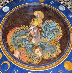 Pallas Athena and Aegis - ancient Roman decorative floor mosaic - Rome, Vatican Museums | by edk7