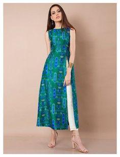 Silk Kurti Designs, Simple Kurta Designs, Kurta Designs Women, Kurti Designs Party Wear, Latest Kurti Designs, Indian Kurtis Designs, Latest Kurti Styles, Printed Kurti Designs, Indian Gowns Dresses