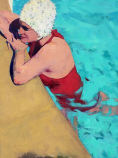 Painting People, Figure Painting, Painting Art, Contemporary Artists, Modern Art, Water Art, Colorful Paintings, Figurative Art, Strand