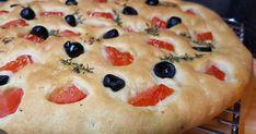 Focaccia paradajková - Mňamky-Recepty.sk Pizza, Bread, Cooking, Desserts, Food, Basket, Kitchen, Tailgate Desserts, Deserts