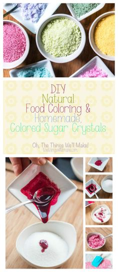 Learn how to quickly and easily make your own natural food colorings that are bright enough to make things like colored sugar crystals. This year I made colored sugar crystals for decorating some Easter treats, and I'll how you how easy it is to make them using your homemade natural food colorings.