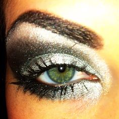 my dramatic sparkling smoky eye <3