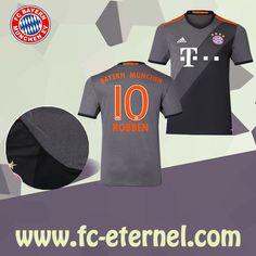 fc-eternel:Maillot Bayern Munich ROBBEN 10 Exterieur 2016/2017 Flocage Maillot Bayern Munich, Lewandowski, Football, Sports, Flocking, Baby Born, Woman, Soccer, Hs Sports