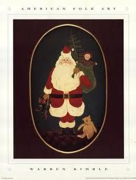 Santa with Toys ~ Warren Kimble ~ American Folk Art