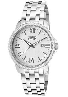 Men's Wrist Watches - Invicta Mens 18104 Specialty Analog Display Swiss Quartz Silver Watch *** Want to know more, click on the image.