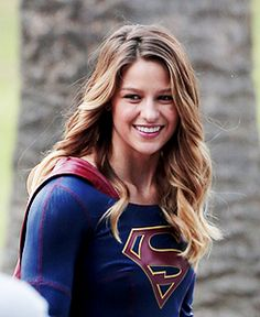 Melissa Benoist on the set of Supergirl, 28th October 2015 x