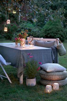 Nevaru sagaidīt...silti vasaras vakari dārzā... zied rozes..vieglas vakariņas dārzā labā kompānijā...