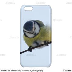 Blue tit on a branch cover for iPhone Blue Tit, Iphone 5c, Iphone Case Covers, Bird, Shop, Animals, Animales, Animaux, Birds