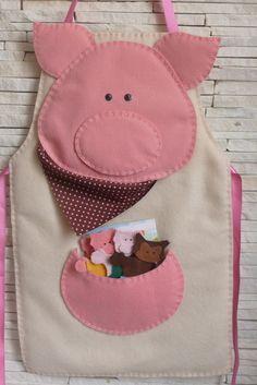 avental os três porquinhos