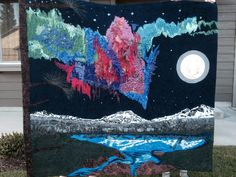 Northern lights art quilt- 2014 By Leslie Pade