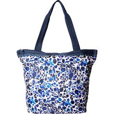 Lesportsac hailey tote blooming silhouettes