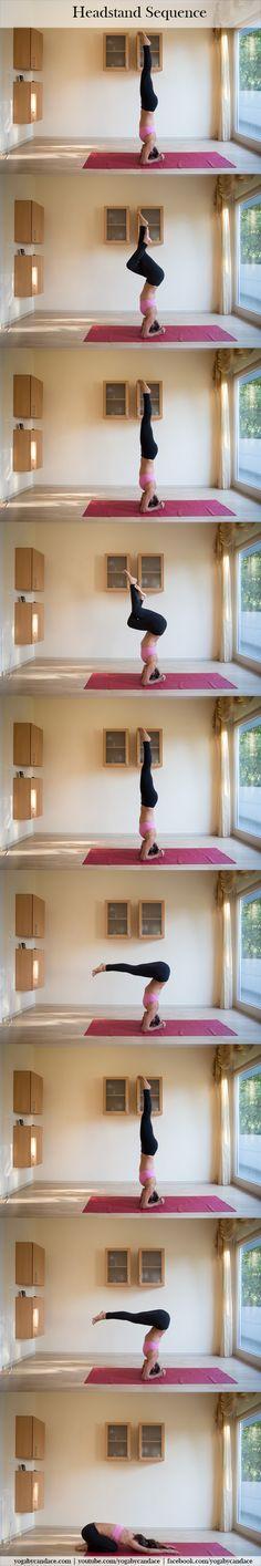 Intermediate headstand sequence