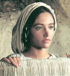"""Olivia Hussey as the Virgin Mary from """"Jesus of Nazareth"""" (1977)"""