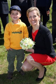 Yesterday: Sophie , Countess of Wessex visit to Highfield Park in St. Albans