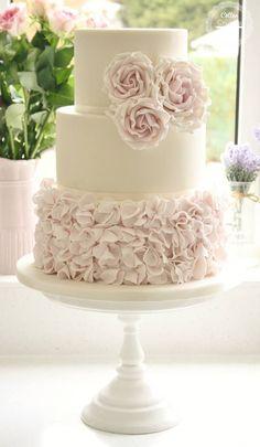 Cake: Cotton & Crumbs; Swooning Over These Amazing Wedding Cakes - MODwedding Cake: Cotton & Crumbs #pinkweddingcakes #weddingcakes