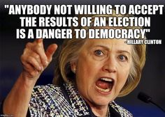 Funny she said this during the last debate...she really thought Trump didn't stand a chance and neither did her supporters!