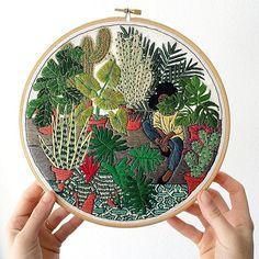 www.littlerugshop.com Cactus love by @sarahkbenning in #dstexture  by designsponge