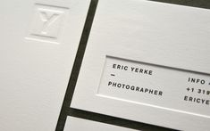 Eric Yerke Identity printed on CLASSIC CREST Papers as seen on FPO