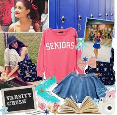 """""""Varsity Crush"""" by ahdorable ❤ liked on Polyvore"""