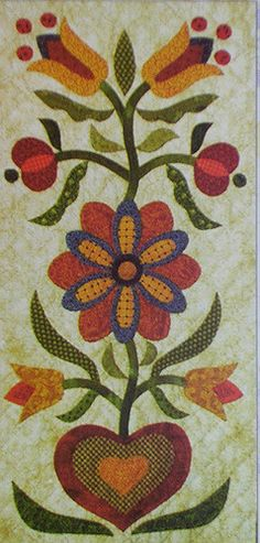 Block 2 from Fraktur Quilt | by The Rabbit Factory